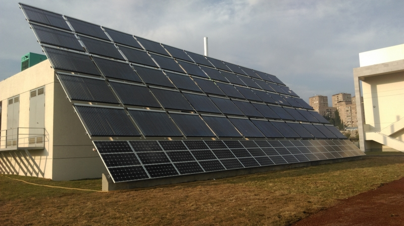 cooling system - Avedisian High School - Solar heating and cooling system