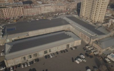 solar power plant - Yerevan city supermarket - Solar power plant