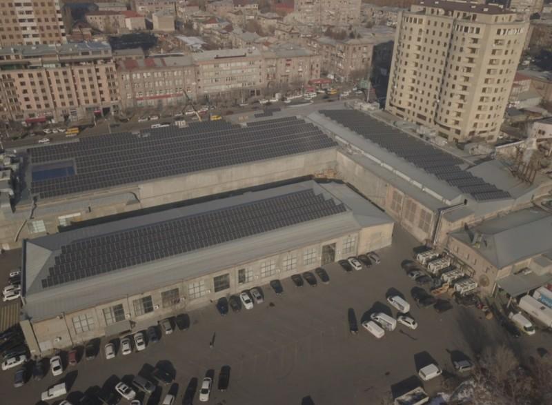 solar power plant - Yerevan city supermarket - Solar power plant