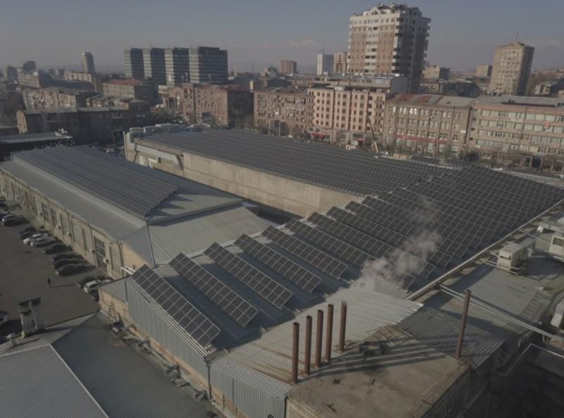 արևային ՖՎ կայան - Երևան Սիթի Սուպերմարկետ - Արևային ՖՎ կայան