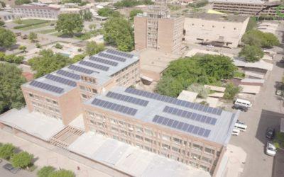solar power plant - Etchmiadzin Sport School - Roof mount solar power plant