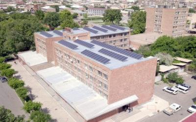 արևային վահանակներ - Էջմիածին քաղաքի սպորտդպրոց - արևային վահանակներ
